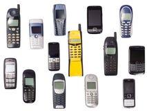 Mobila telefoner Fotografering för Bildbyråer
