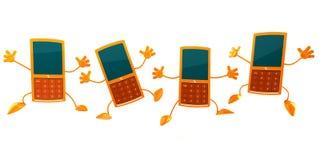 mobila telefoner vektor illustrationer