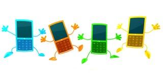 mobila telefoner royaltyfri illustrationer
