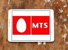 Mobila TeleSystems, MTS, logo Royaltyfria Foton