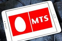 Mobila TeleSystems, MTS, logo Royaltyfri Fotografi