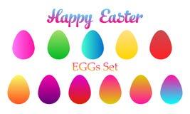 Easter eggs set icon. vector illustration