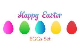 Easter eggs set icon. royalty free illustration