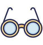 Spectacles Isolated Vector icon that can easily modify or edit stock illustration