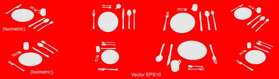 Tableware icon,  Isolated sign. Vector, isolated, EPS 10. stock illustration