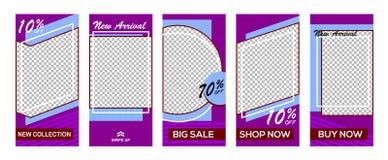 Set of Instagram stories sale banner background, Instagram template photo, can be use for, landing page, website, mobile app, post vector illustration