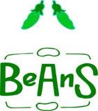 Illustration of beans in cartoon style stock illustration