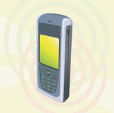 Mobile. Illustration of Mobile Phone with display light glowed Royalty Free Stock Photos