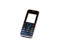 Mobile. Phone with empty screen on white Royalty Free Stock Photo