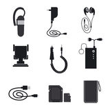 Mobile accessories devices Stock Photo