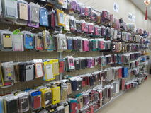 Mobile accessories stores Royalty Free Stock Images