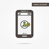 Mobile account stock illustration