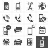 Mobile account management icons Stock Image