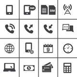 Mobile account management icons Stock Photography