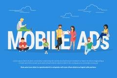 Mobile ads concept illustration Stock Images
