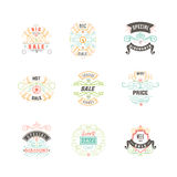 Mobile advertising banner - sale. With additional decorative elements.Vector illustrations of online shopping website vector illustration