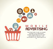 Mobile advertising Stock Photography