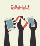 Mobile advertising Royalty Free Stock Photography