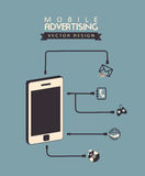 Mobile advertising Royalty Free Stock Images