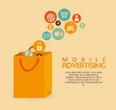 Mobile advertising Stock Photos