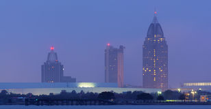Mobile Alabama Foggy Skyline stock photo