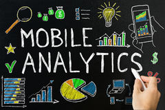 Mobile Analytic Concept Drawn On Blackboard Royalty Free Stock Image