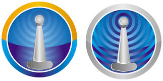 Mobile antena icon Royalty Free Stock Photography