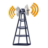 Mobile antena over white Stock Photos