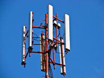 Mobile antena. Shot of a mobile phone antena stock images