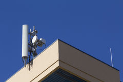 Mobile antenna in a building Royalty Free Stock Images