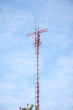 Mobile antenna pole Stock Images