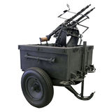 Mobile anti-aircraft machine gun installation Royalty Free Stock Photo