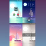 Mobile app application background wallpaper template mockup Royalty Free Stock Photo