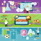 Mobile app applications Stock Image