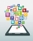 Mobile app design. Royalty Free Stock Photography