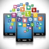 Mobile app design. Royalty Free Stock Photo