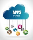 Mobile app design. Stock Photo