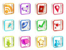 Mobile app icon application emblems isolated Royalty Free Stock Photos
