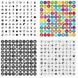 100 mobile app icons set vector variant. 100 mobile app icons set vector in 4 variant for any web design isolated on white Royalty Free Stock Photography