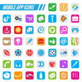 Mobile App Icons Stock Photos