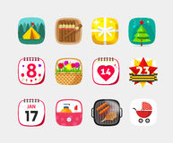 Free Mobile App Icons Vector Set Isolated On Gray Background Stock Image - 71584881