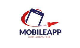Mobile app logo template Stock Image