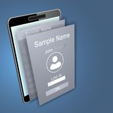 Mobile app screens over mobile phone device Stock Photography