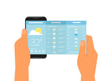 Mobile app for weather forecast Royalty Free Stock Image