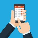 Mobile application for calendar. Stock Photography