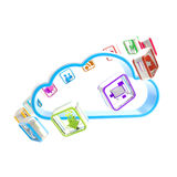 Mobile application cloud technology icon Stock Photo