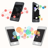 Mobile application communication concept Royalty Free Stock Image