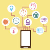 Mobile application concept idea in flat style Royalty Free Stock Photography
