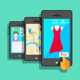 Mobile Application Concept royalty free illustration