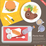 Mobile application cooking and food concept Stock Photo